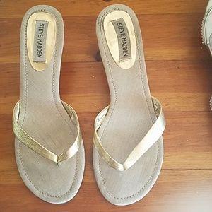 gold heels/sandals